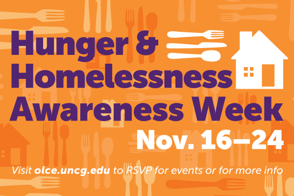 Hunger + Homelessness Awareness Week